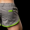 BARCODE Berlin SHORTS LIMITED gym sprint neon 10090 grey-green