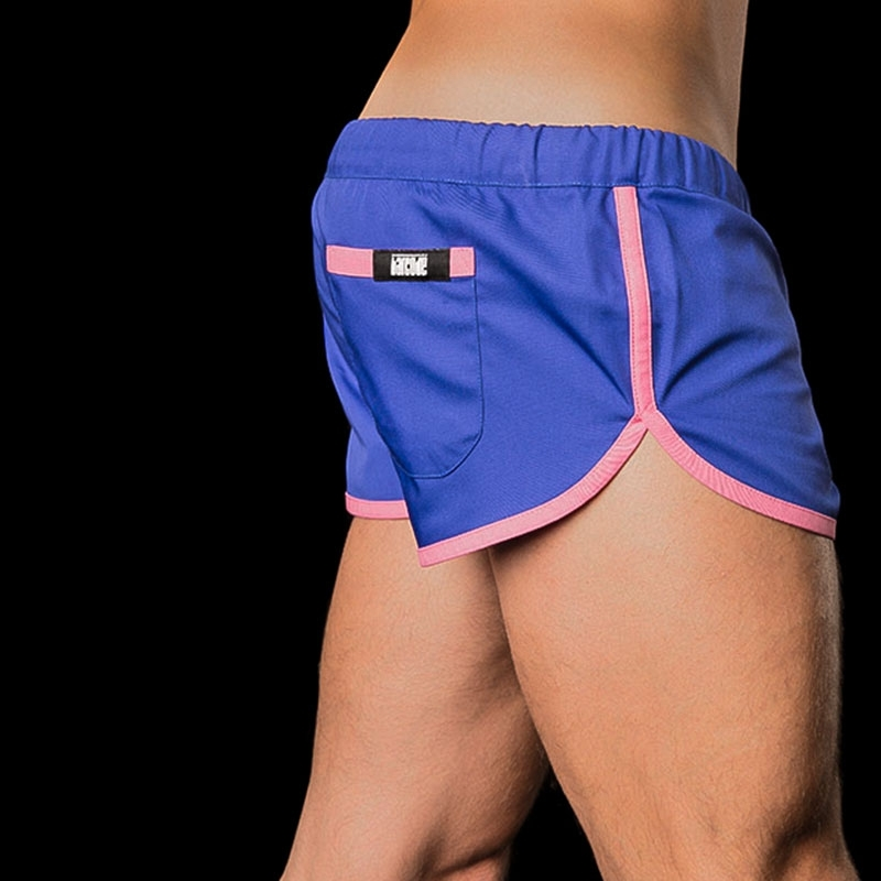BARCODE Berlin SHORTS LIMITED gym sprint 10090 blue-pink