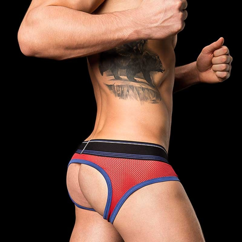 BARCODE Berlin BRIEF MESH limited Bond Street backless red-navy