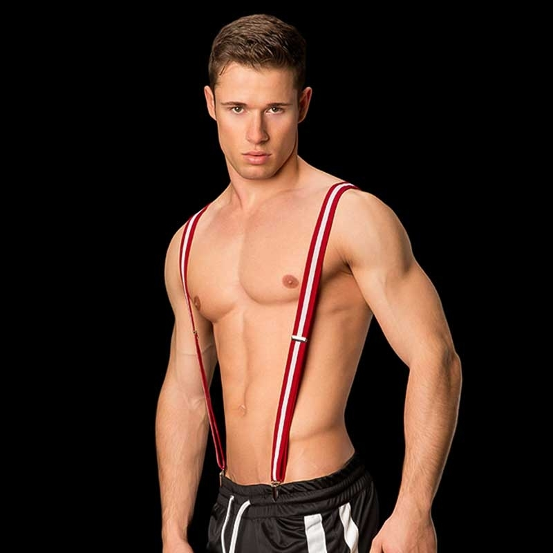 BARCODE Berlin HOSENTRÄGER belt MAXXIE medium Y-STYLE red-white