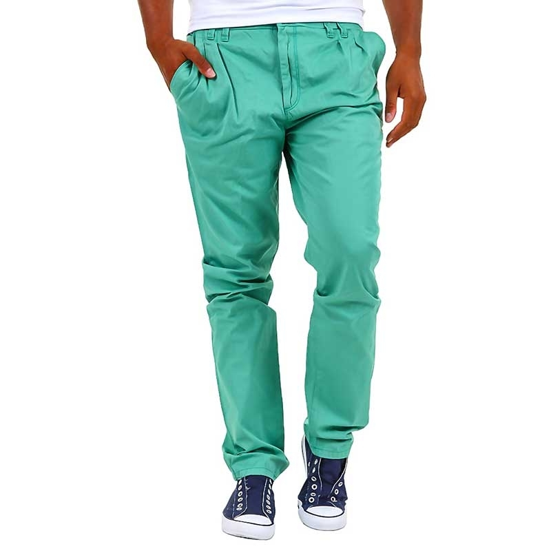 CIPO & BAXX CHINO HOSE C-0993 baggy 5-Pocket mens summer green