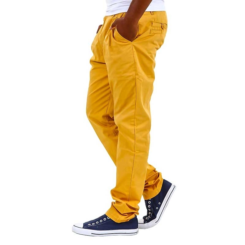 CIPO & BAXX CHINO HOSE C-0993 baggy 5-Pocket mens summer yellow