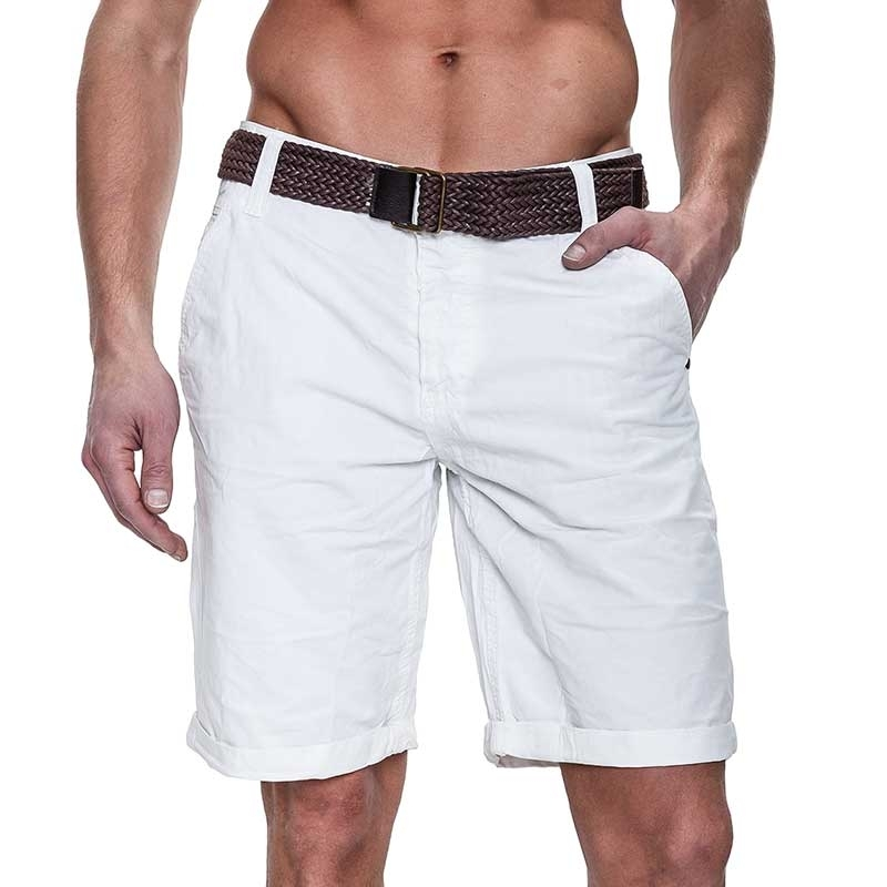 SUBLEVEL CHINO SHORTS + belt casual PEDRO Beach white