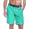 SUBLEVEL CHINO SHORTS + belt casual PEDRO Beach green