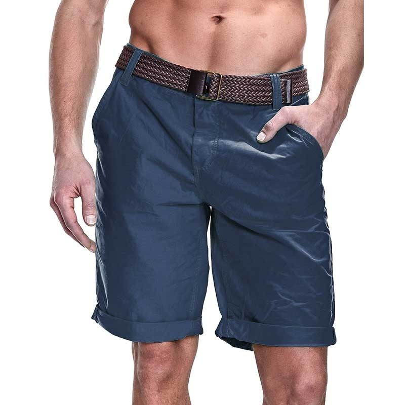 SUBLEVEL CHINO SHORTS + belt casual PEDRO Beach navy