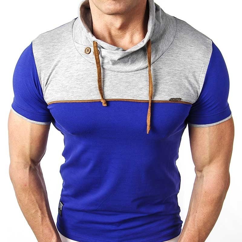 CARISMA T-SHIRT spaceman collar CRSM 4040 blau