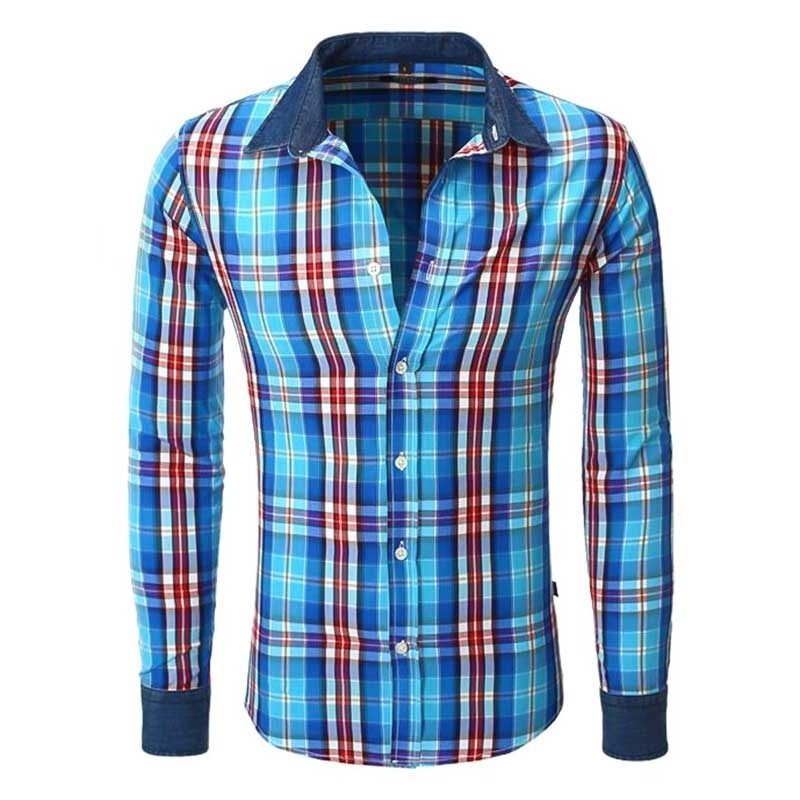 CARISMA CHECK SHIRT CRSM8175 denim highlights