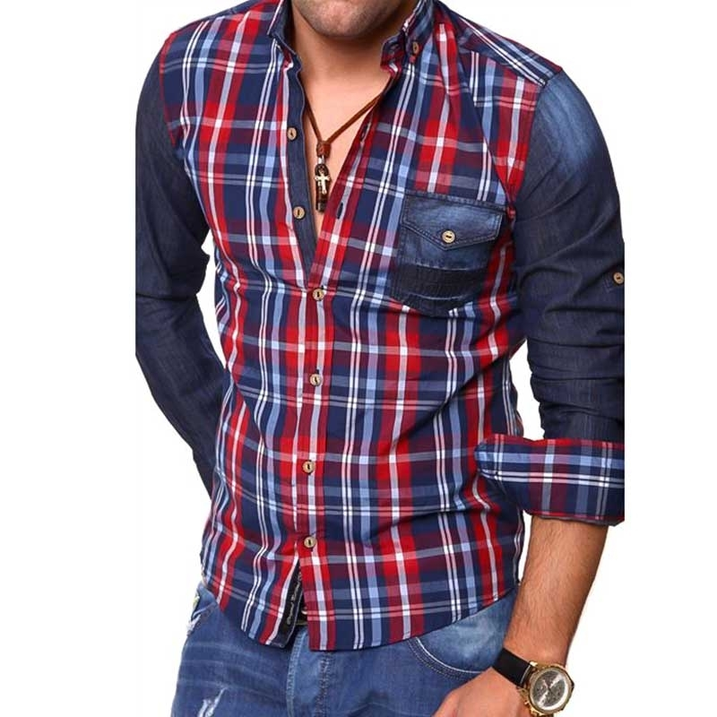 CARISMA CHECK SHIRT CRSM8127 denim sleeves