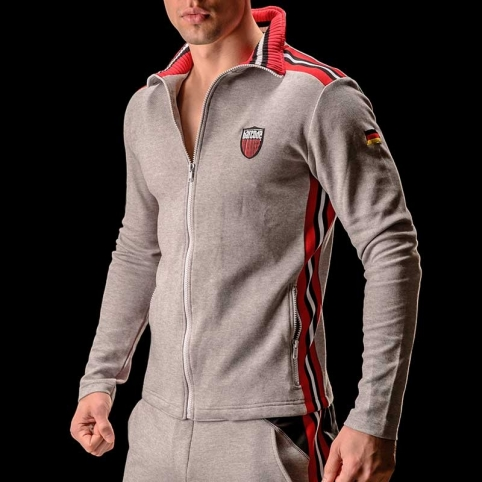 BARCODE Berlin SWEATJACKE gym Pluton 90891 light grey