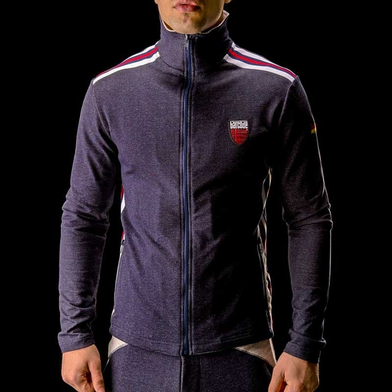 BARCODE Berlin SWEATJACKE gym Simon 90893 denim dunkelblau