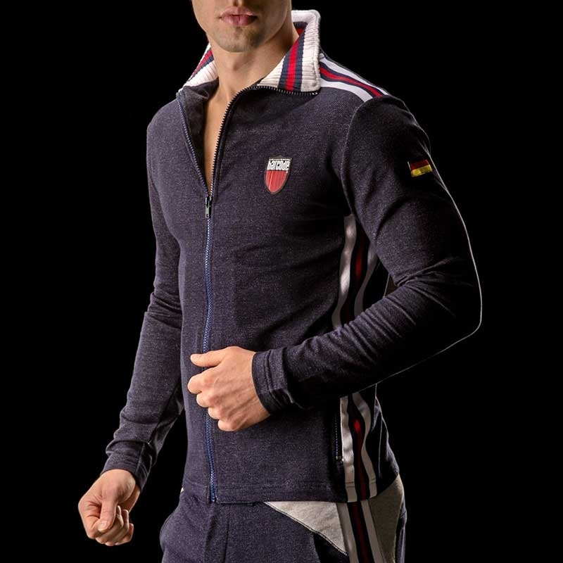 BARCODE Berlin SWEATJACKE gym Simon 90893 denim darkblue