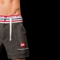BARCODE Berlin SHORTS gym Etienne 91045 Stretch Fleece black