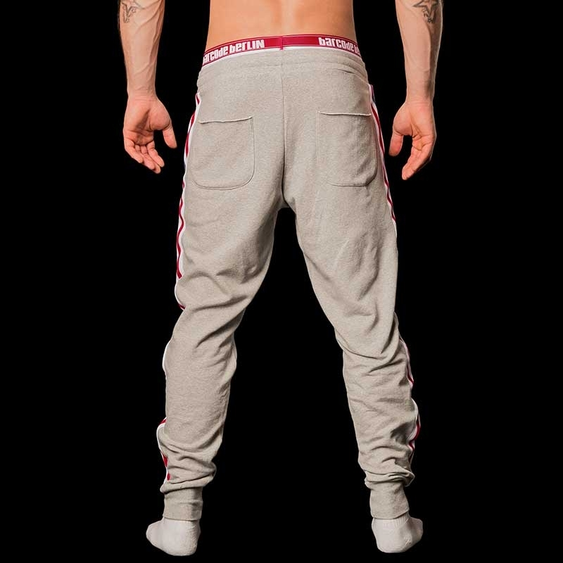BARCODE Berlin SWEAT PANTS gym Mitch 91046 Stretch Fleece grey
