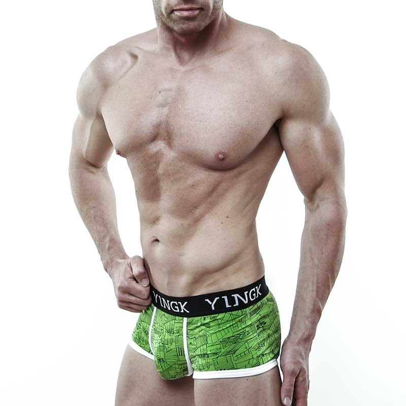 YINGK PANTS micro CUBE Style lift-up green