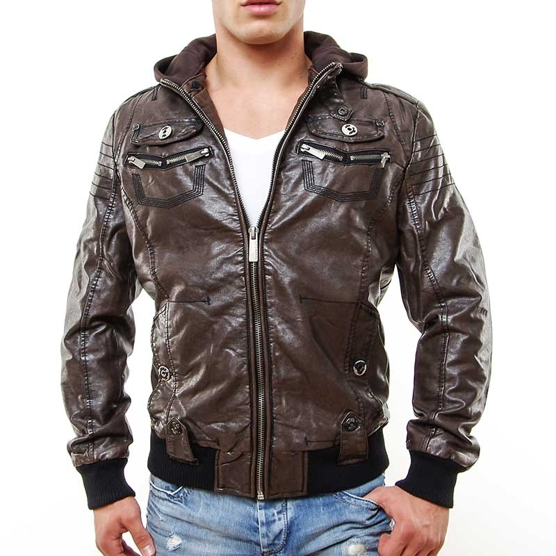 CIPO & BAXX wet JACKE C7002 dark brown