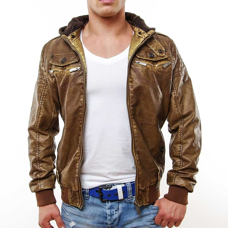 CIPO & BAXX wet JACKE C7002 in light brown