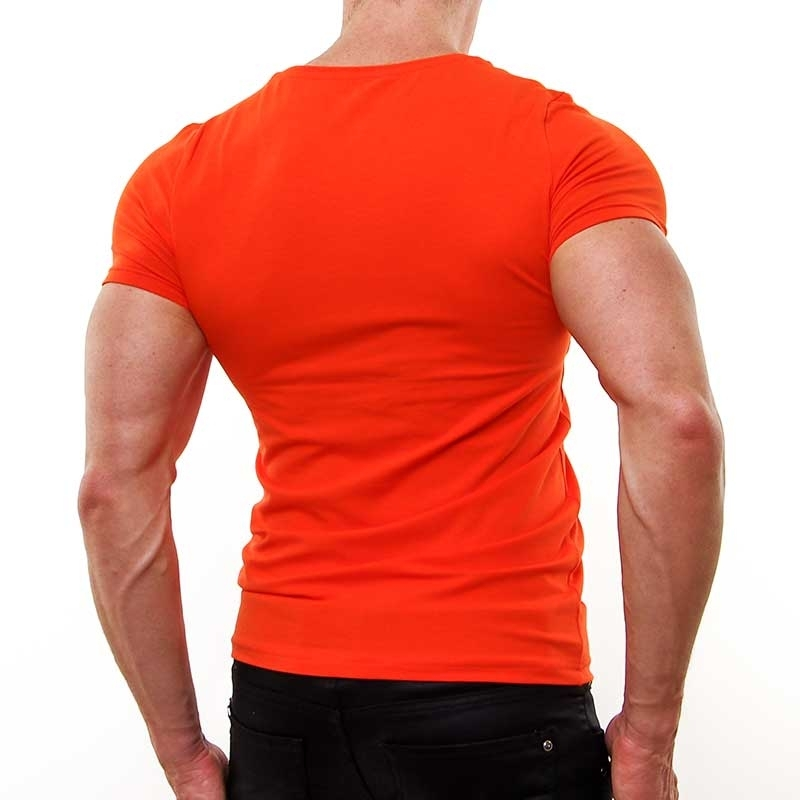 SUBLEVEL T-Shirt relax bodystyle DUSTIN stretch coral