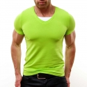 SUBLEVEL T-Shirt relax bodystyle DUSTIN stretch neon green
