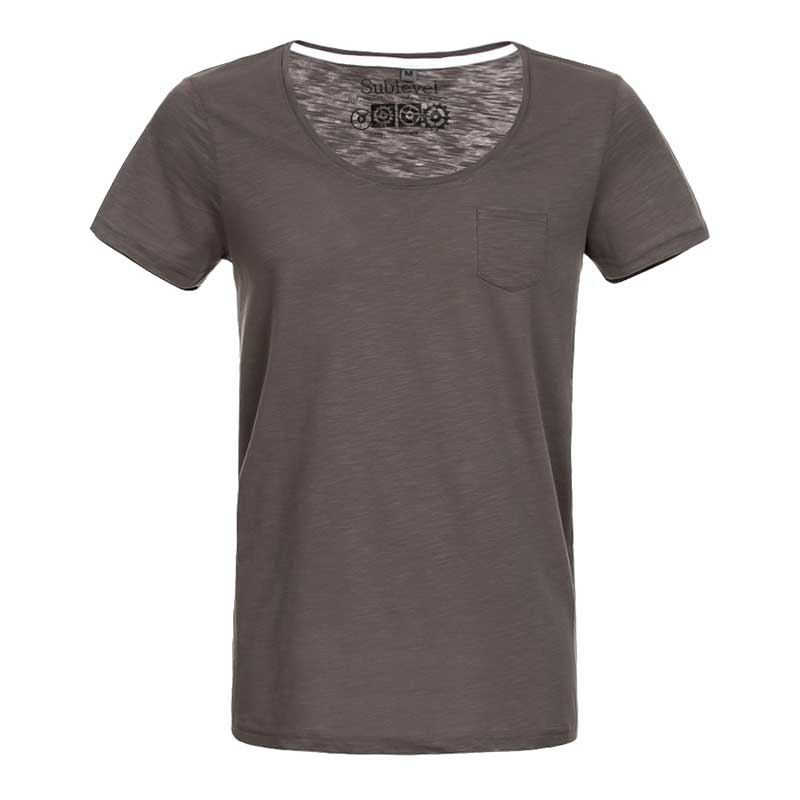 SUBLEVEL T-Shirt casual loose EFREM grau-braun