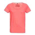 SUBLEVEL T-Shirt casual loose EFREM coral