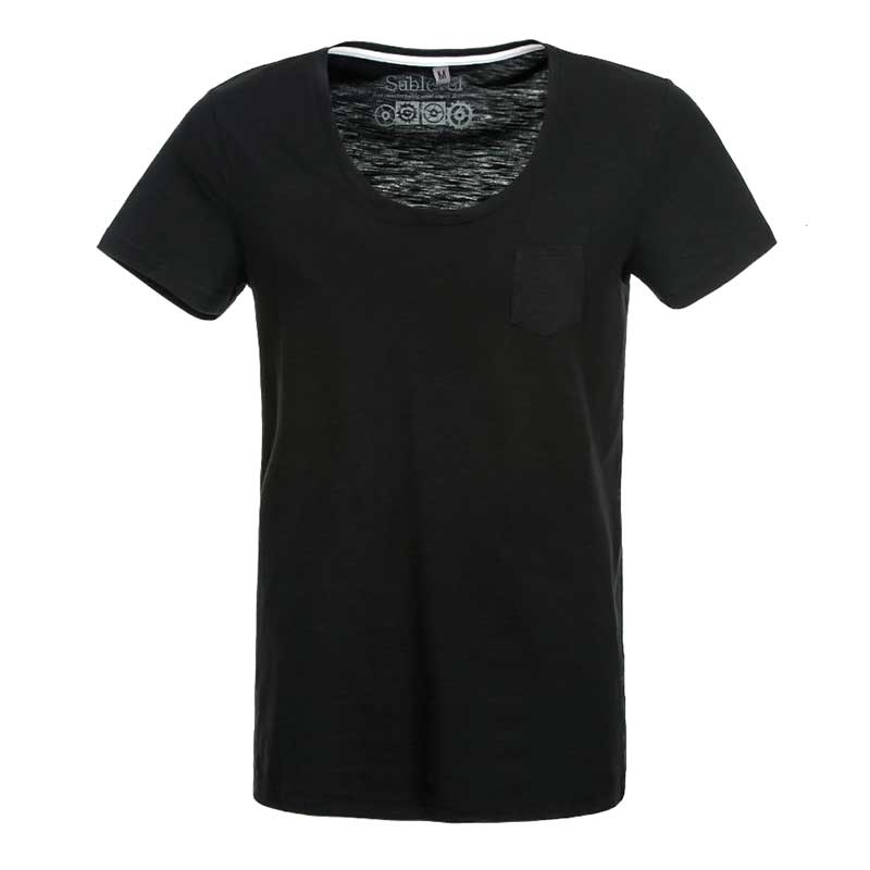 SUBLEVEL T-Shirt casual loose EFREM black