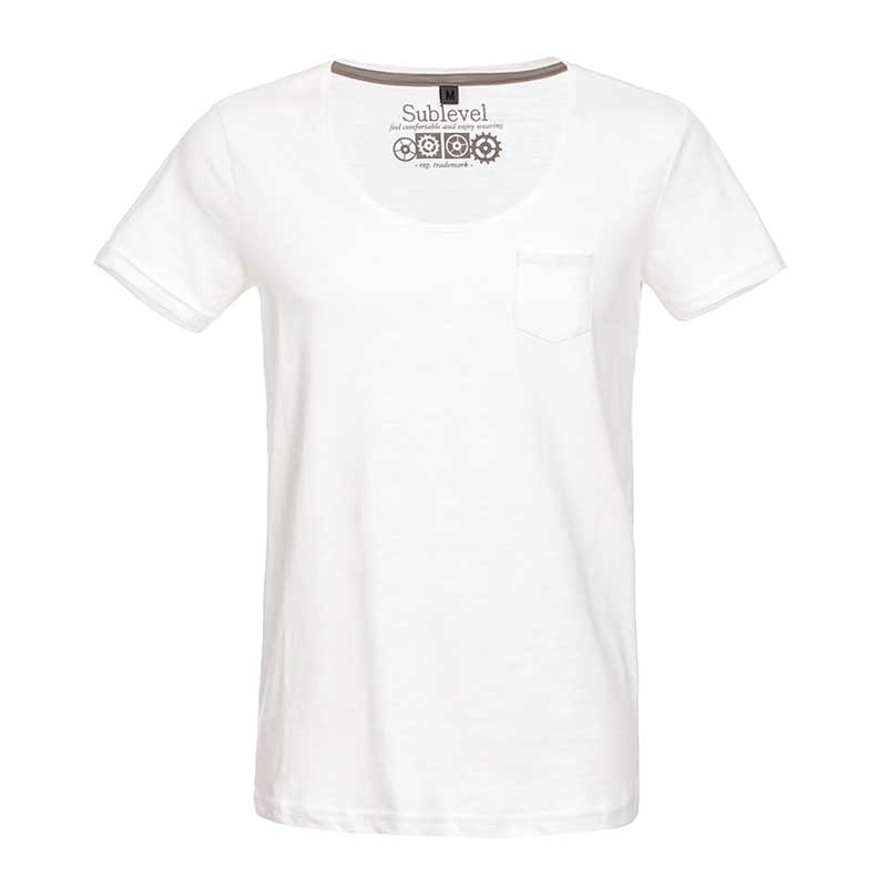 SUBLEVEL T-Shirt casual loose EFREM weiss