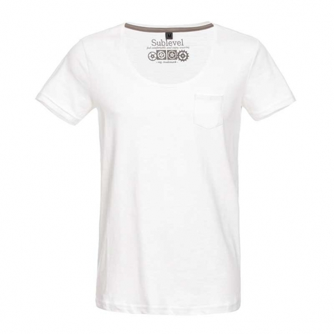 SUBLEVEL T-Shirt Basic Brusttasche
