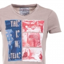 SUBLEVEL T-Shirt relax america NEW TEXAS beige