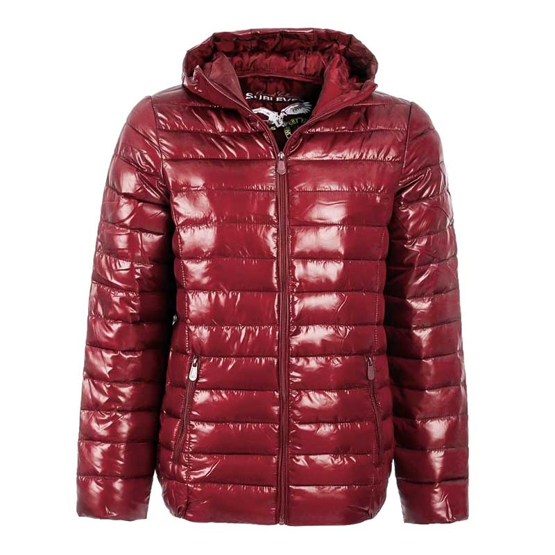 SUBLEVEL JACKE air bag POWER mit Kapuze lightweight rot