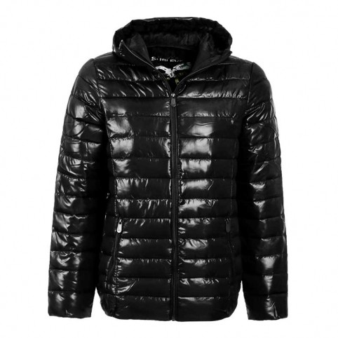 SUBLEVEL JACKE Wet-Look Kapuze