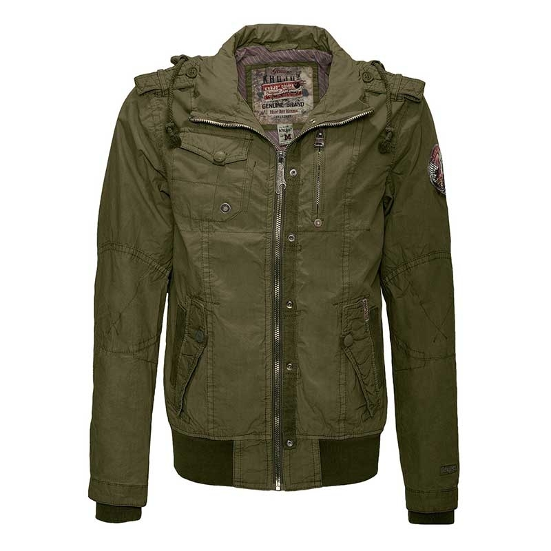 KHUjO JACKET LURUX 5-pocket style slim320 Army olive