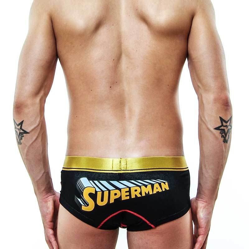 MOOD PANTS hot slinky Push up star SUPERMAN gold-black