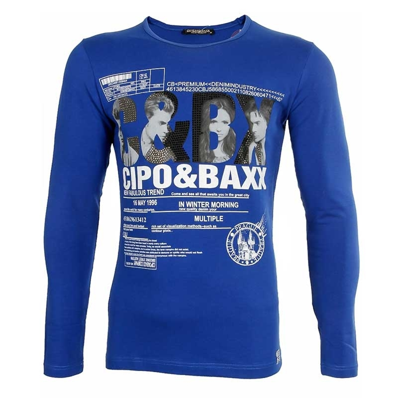 CIPO and BAXX SWEATSHIRT label print CULTURE C-5355 anthrazit