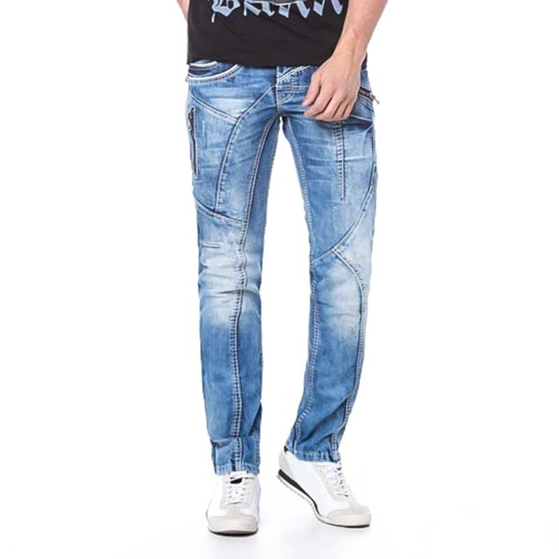 CIPO and BAXX JEANSHOSE Slim Fit C-1150 used design basic XX-Pocket bluejeans