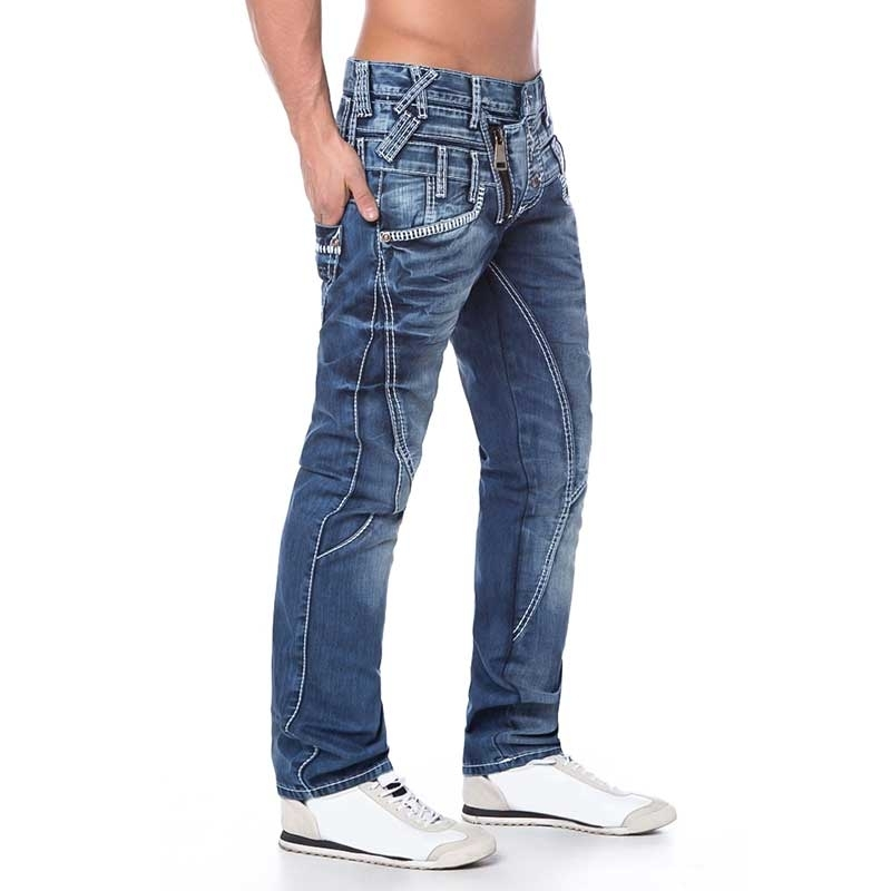 CIPO and BAXX JEANS PANTS C1199 with double waistband
