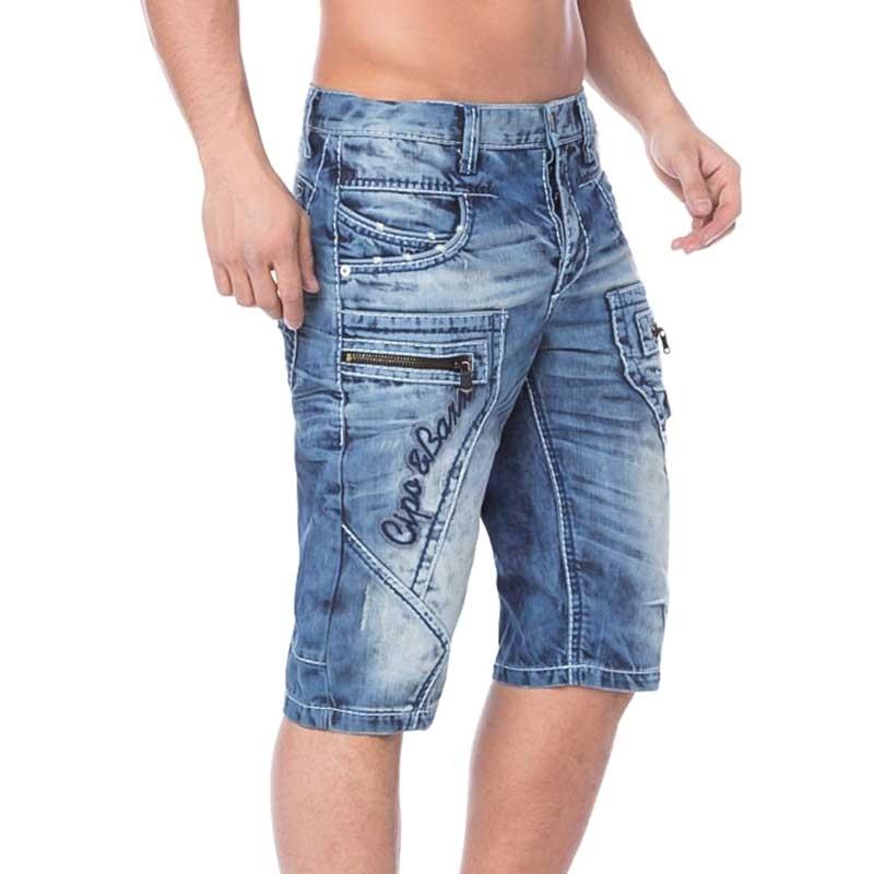 CIPO and BAXX SHORTS CAPRI- JEANS CK101 with 7 pockets