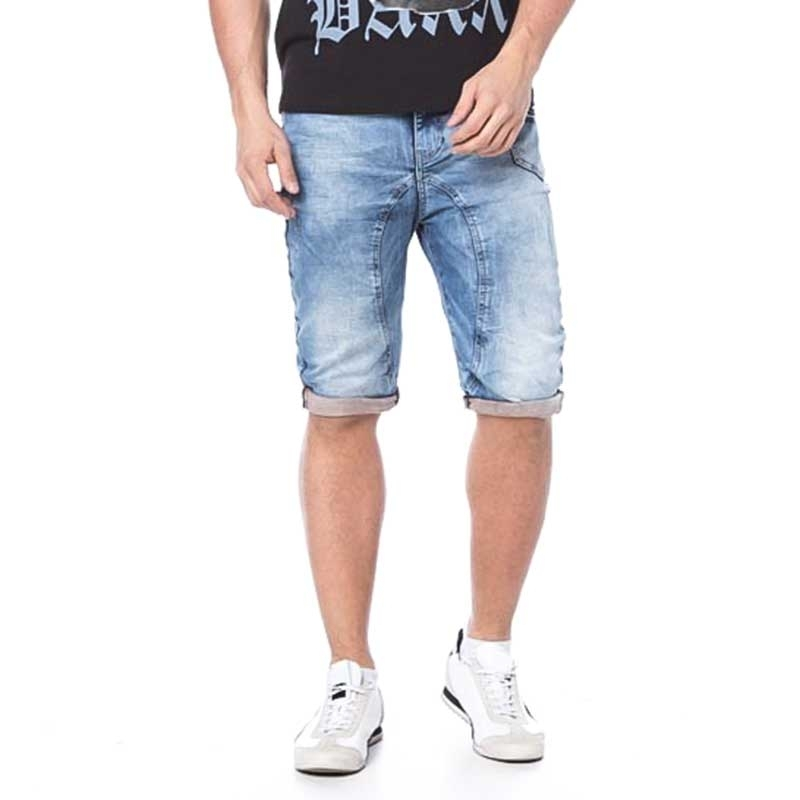CIPO and BAXX SHORTS CAPRI- JEANS skinny Fit CK106 used look 5-Pocket blue