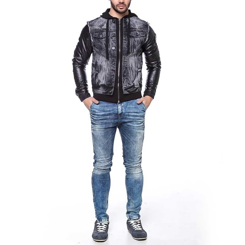 CIPO and BAXX wet JEANSJACKE C1290 in black