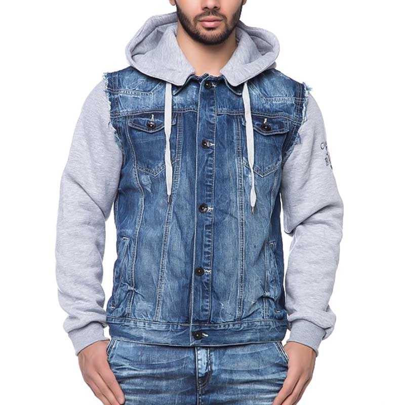CIPO and BAXX JEANS SWEATJACKE C1294 hybrid hoodie