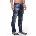 CIPO and BAXX  JEANSHOSE C1114 gemusterter Stoff