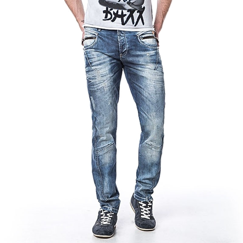 CIPO and BAXX JEANSHOSE Slim Fit HIP CD-105 used look 5-Pocket bluejeans