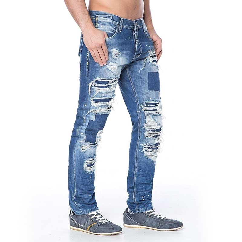 CIPO and BAXX JEANS PANTS CD126 destroyed design