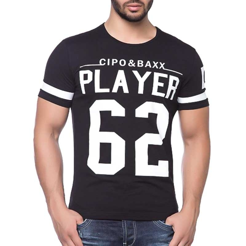 CIPO and BAXX T-SHIRT Tricot slim Fit C5441 Player 62 black
