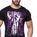 CIPO and BAXX T-SHIRT CT101 glaenzender Party Druck