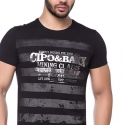 CIPO and BAXX T-SHIRT CT102 Used Look Streifen