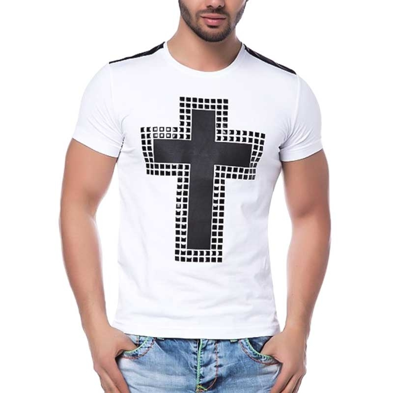 CIPO and BAXX T-SHIRT CT111 wet-look cross