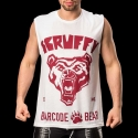 BARCODE Berlin TANK Top casual shirt SCRUFFY 91085 wild white-red