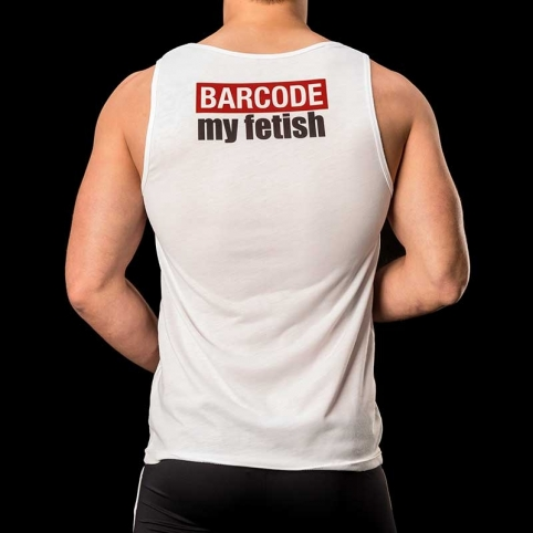 BARCODE Berlin TANK Top athletic extreme HARD 91093 kinky white