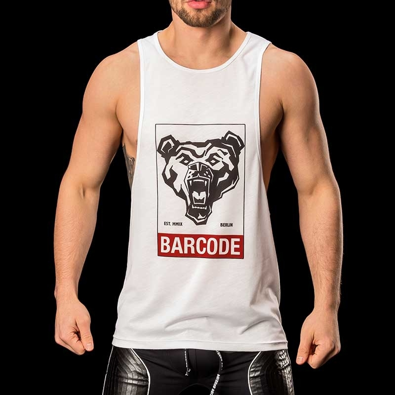 BARCODE Berlin TANK Top athletik barcode ALEX 91093 wild white