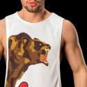BARCODE Berlin TANK Top low cut WILD zone 91089 bear white